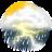 Oblačno déšt bouřky